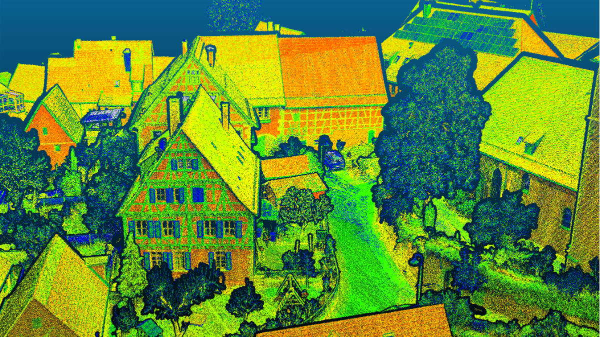 Integrating airborne LiDAR and imagery for urban data collection: LiDAR_DIM LiDAR_DIM aims on an integrated airborne camera and LiDAR hard- and software system to generate textured and meshed 3D point clouds for semantic information extraction in urban areas. (c)