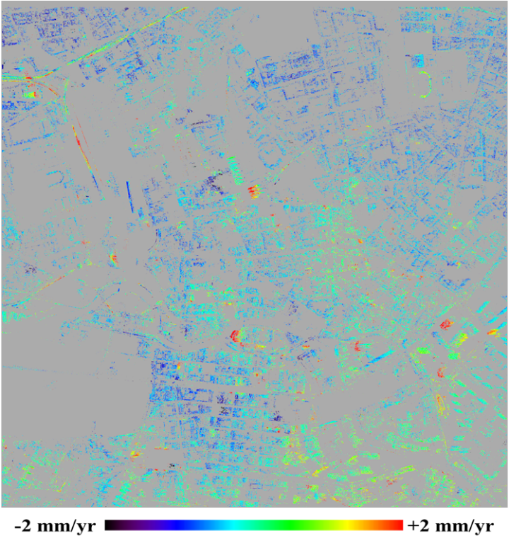 Line-of-sight velocities of PS points during 2010 - 2014
