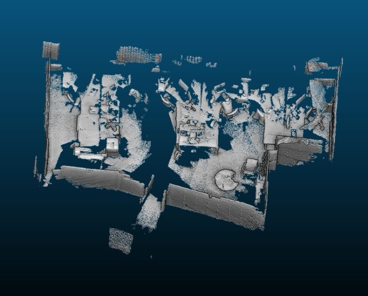 Raw point cloud from Project Tango (c)