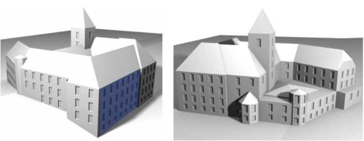 Stuttgart's Linden-Museum as 3D facade model from rule and data based reconstruction (c)