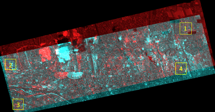 Figure 3. Anaglyph image of WorldView-2 data
